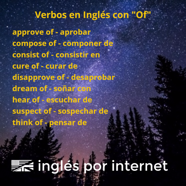 verbos en inglés con of