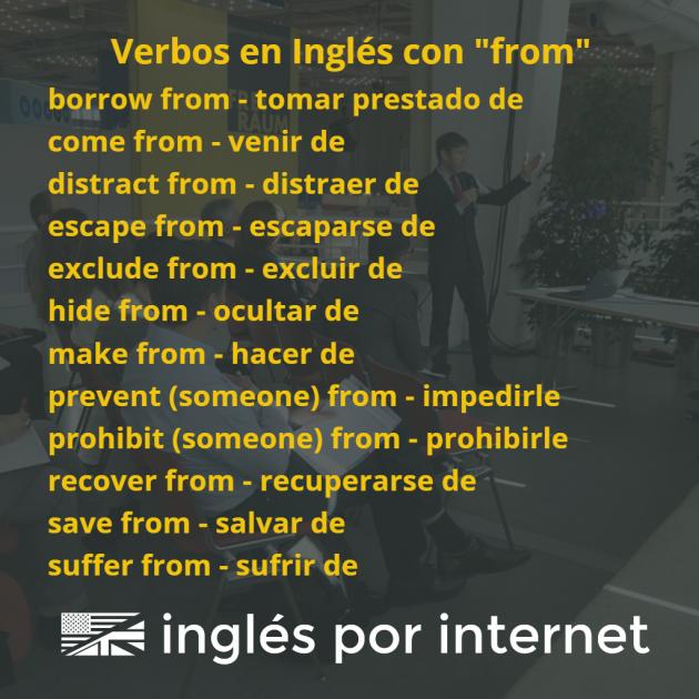 verbos en inglés con la preposición from
