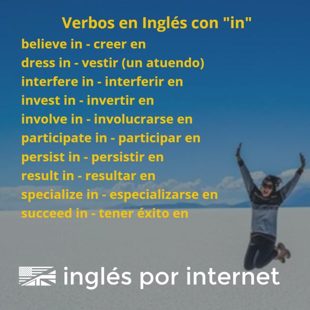 verbos en inglés con la preposición in